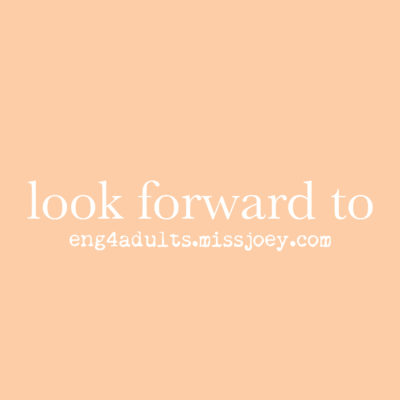 每日一字:look forward to