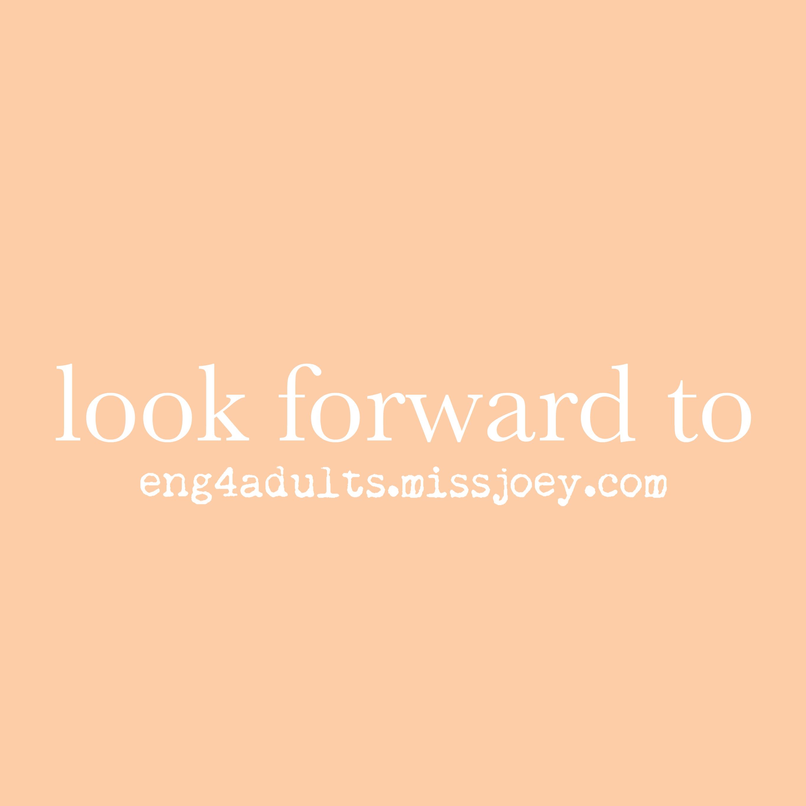 每日一字:look forward to