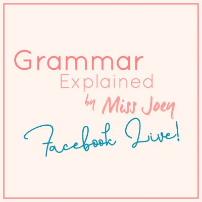 曾任「口水多過浪花」英語導師 Miss Joey 所教授之 2020 網上成人英語文法班現正接受報名!