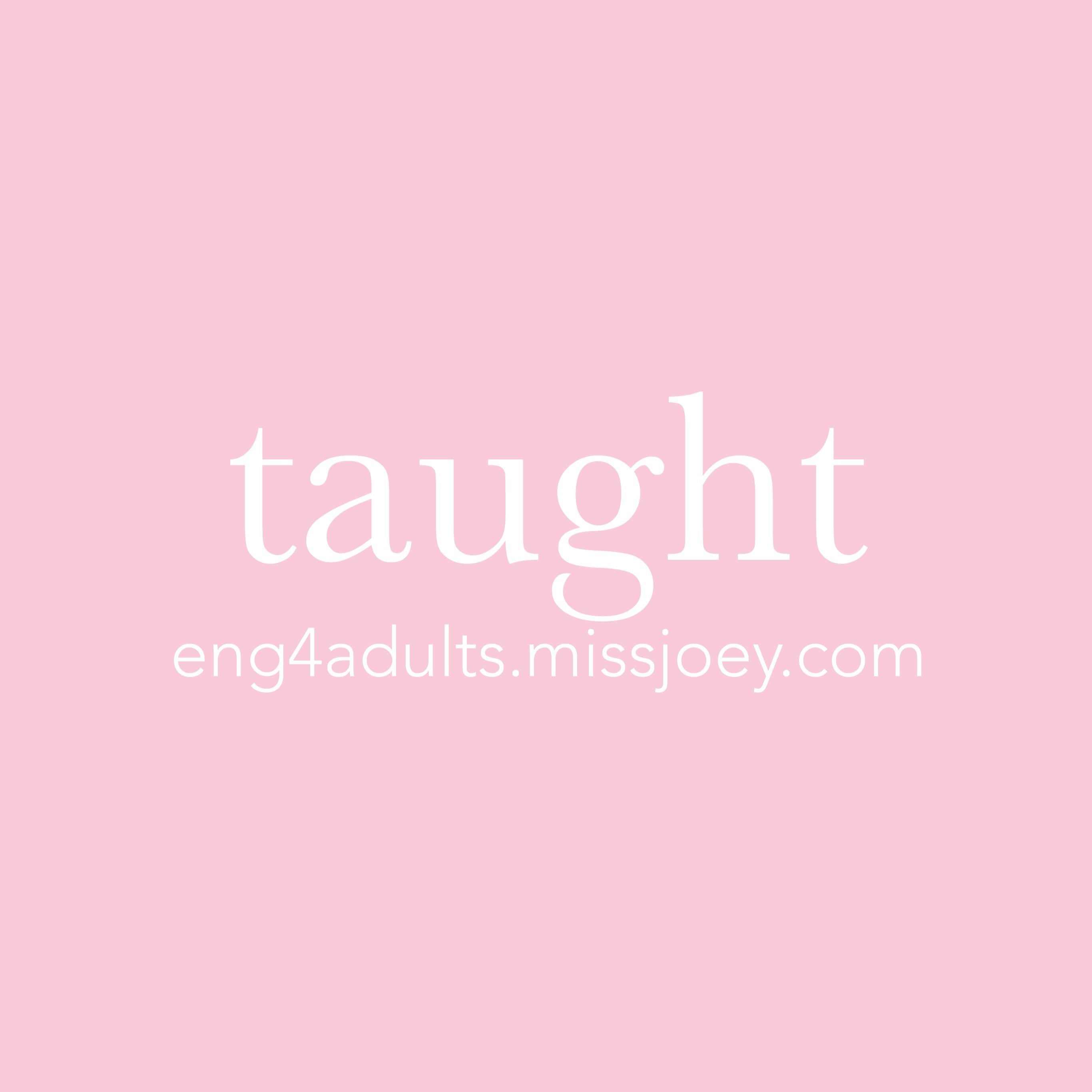 每日一字:taught