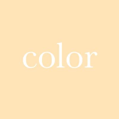 每日一字 : color